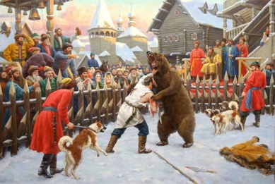 Fight with the bear