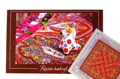 Комплект «Народные промыслы» (открытка+марка)