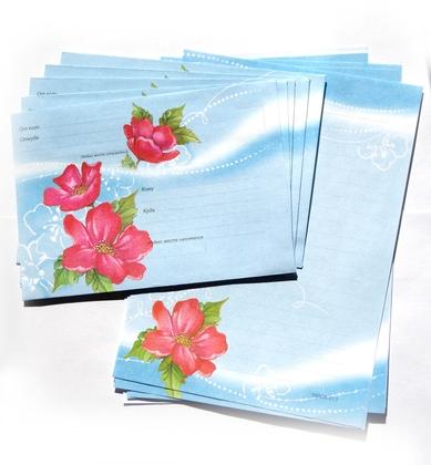 Набор для письма «Красные цветы»
