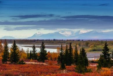 Usa river. Polar Urals