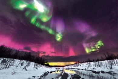 Aurora borealis. Kola Peninsula