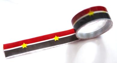 Скотч «Черно-красные полосы и звезда»