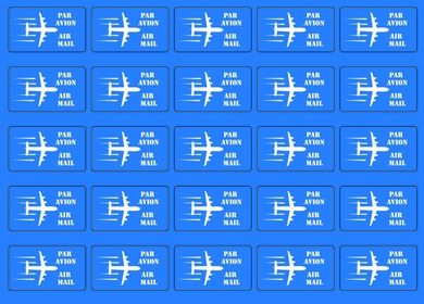 «Airmail» stickers (blue)