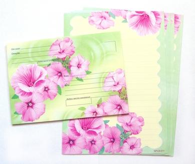 Набор для письма «Цветочные мотивы»