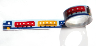 Скотч «Цветные вагоны»
