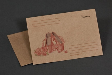 Craft-paper envelope «Ballet»