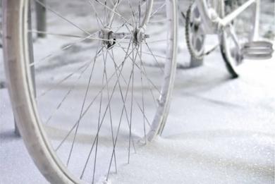 Snowy bike