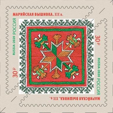 Декоративно-прикладное искусство России. Марийская вышивка
