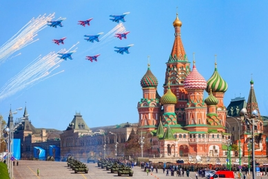 Military parade on the Red Square
